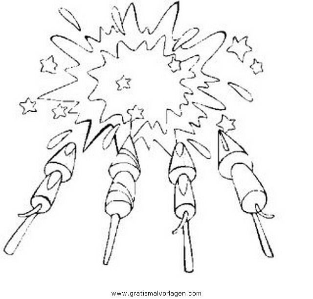 feuerwerk 13 gratis malvorlage in feste silvester  ausmalen