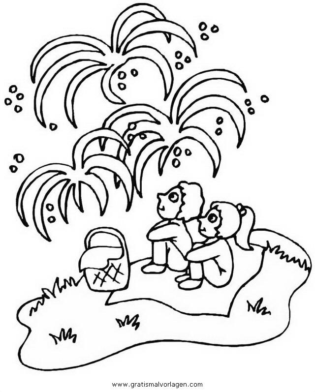 Feuerwerk 19 Gratis Malvorlage In Feste Silvester Ausmalen