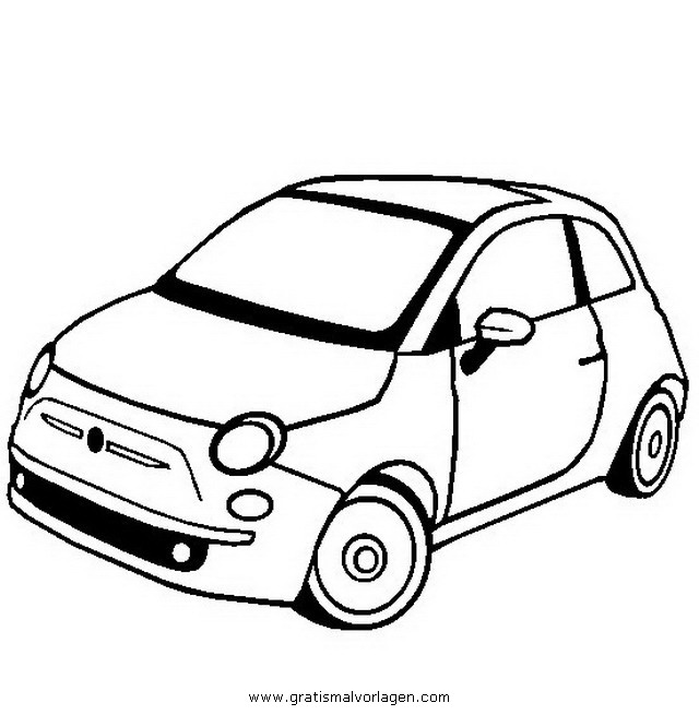 Fiat 500 2 gratis malvorlage in autos2 transportmittel for Disegni da colorare e stampare di cars
