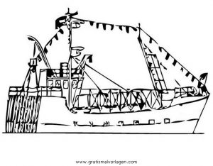 Fischerboot 0 Gratis Malvorlage In Boote Transportmittel Ausmalen
