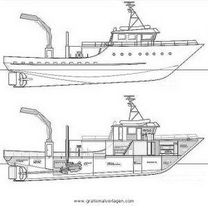 Fischerboot 1 Gratis Malvorlage In Boote Transportmittel Ausmalen