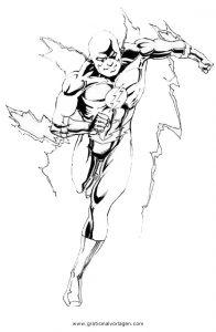 Malvorlage Flash flash 34