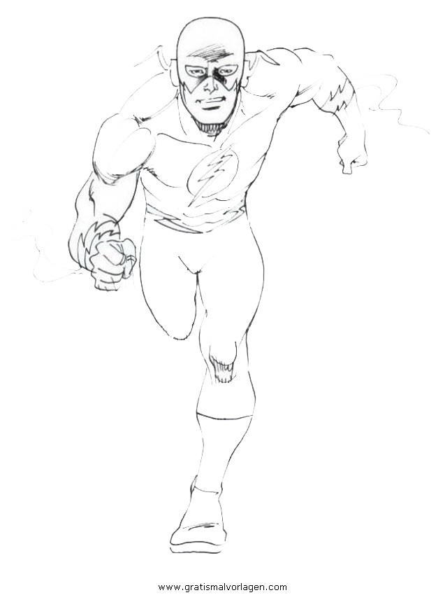 Flash 38 Gratis Malvorlage In Comic Trickfilmfiguren Flash Ausmalen