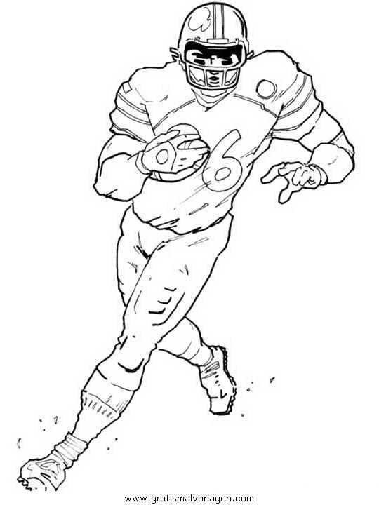 Football 09 Gratis Malvorlage In American Football Sport