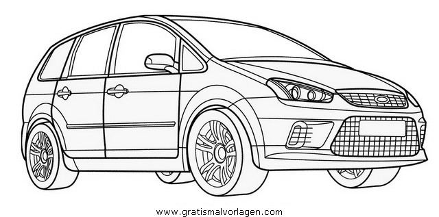 Ford C Max Gratis Malvorlage In Autos2 Transportmittel