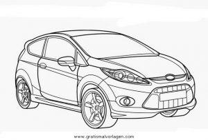 Ford Fiesta Gratis Malvorlage In Autos2 Transportmittel
