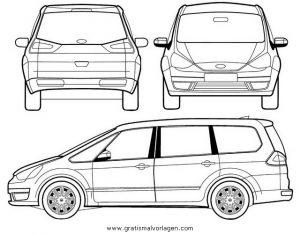 Ford Galaxy Gratis Malvorlage In Autos2 Transportmittel Ausmalen