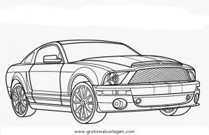 Ford Mustang Gratis Malvorlage In Autos2 Transportmittel