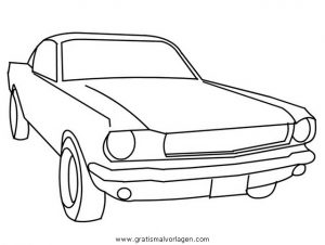 Ford Mustang 1 Gratis Malvorlage In Autos2 Transportmittel