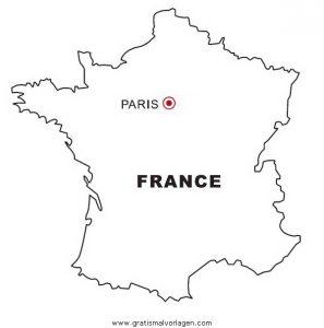 Landkarte Frankreich Gratis Malvorlage In Geografie Landkarten