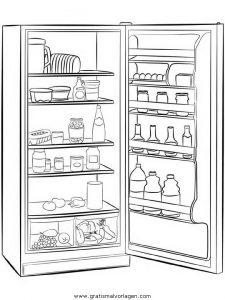kühlschrank gratis malvorlage in diverse malvorlagen, möbel - ausmalen