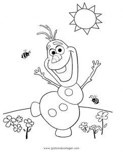 Frozen Olaf 35 Gratis Malvorlage In Comic Trickfilmfiguren
