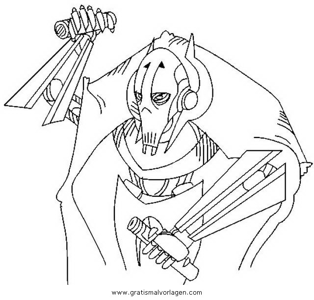 General Grievous Coloring Page Beautiful Genial Ausmalbilder Star