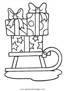 geschenke 21 gratis malvorlage in geschenke, weihnachten - ausmalen
