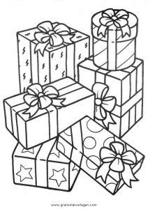 Geschenke 23 Gratis Malvorlage In Geschenke Weihnachten Ausmalen