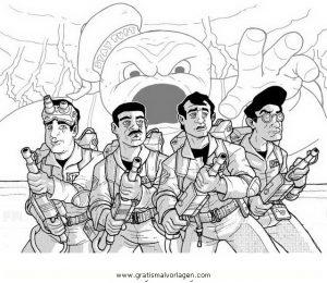 Ghostbusters 13 Gratis Malvorlage In Comic Trickfilmfiguren