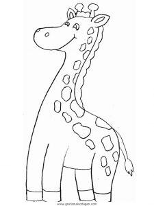 Malvorlage Giraffen giraffen 14