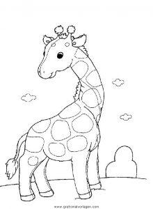 Malvorlage Giraffen giraffen 25