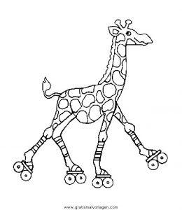 Malvorlage Giraffen giraffen 34