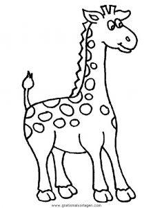 Malvorlage Giraffen giraffen 39