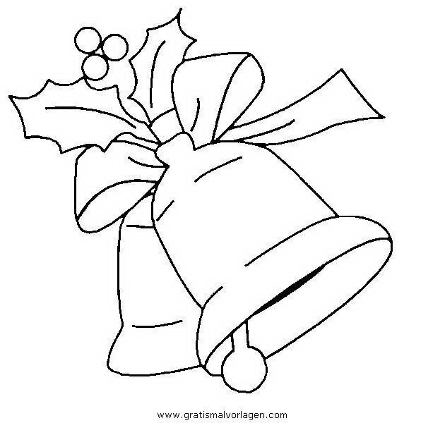 Glocke Malvorlagen zum Ausmalen für Kinder -