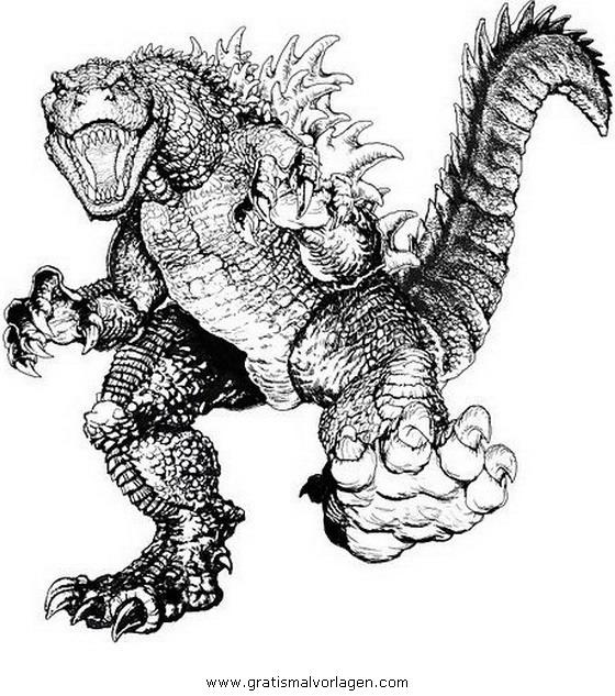 Godzilla 10 Gratis Malvorlage In Comic Amp Trickfilmfiguren