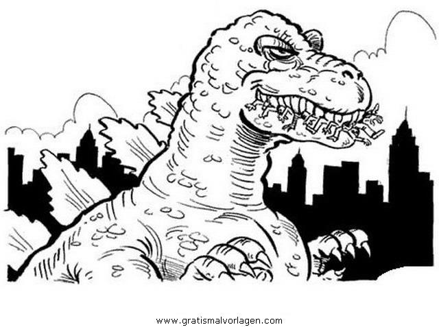 Rayman 11 Gratis Malvorlage In Comic Trickfilmfiguren: Godzilla 11 Gratis Malvorlage In Comic & Trickfilmfiguren