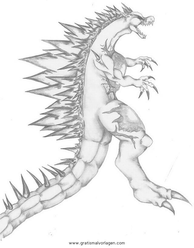 Godzilla Malvorlagen zum Ausmalen für Kinder -
