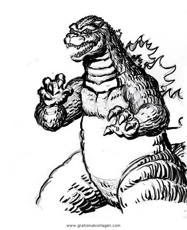 godzilla 20 gratis Malvorlage in Comic & Trickfilmfiguren, Godzilla ...