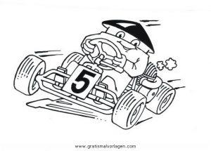 Gokart 5 Gratis Malvorlage In Autos Transportmittel Ausmalen