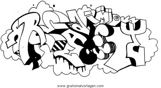 graffiti grafiti 10 gratis malvorlage in diverse