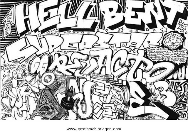 graffiti grafiti 12 gratis Malvorlage in Diverse Malvorlagen ...