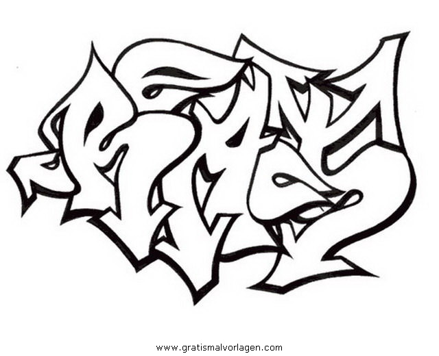 graffiti grafiti 13 gratis Malvorlage