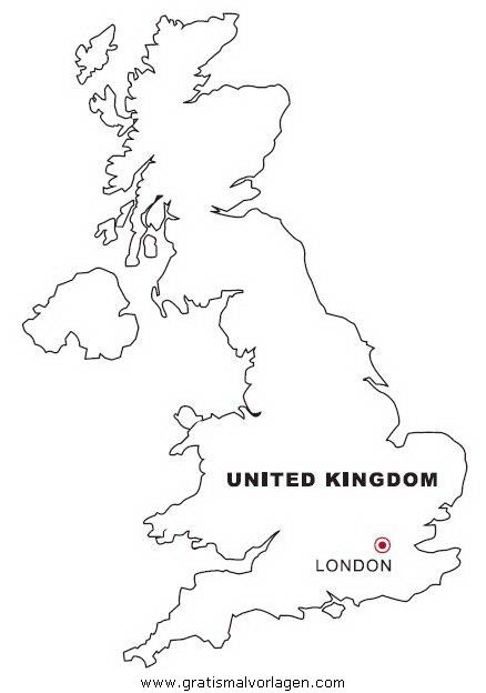 Landkarte England Gratis Malvorlage In Geografie Landkarten Ausmalen