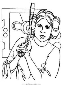 Prinzessin Leia Gratis Malvorlage In Science Fiction Star Wars