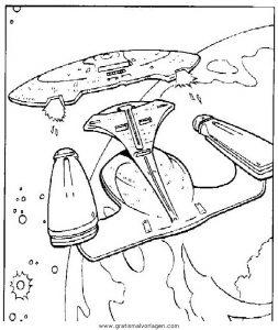 Raumschiff Enterprise Gratis Malvorlage In Raumschiff Enterprise