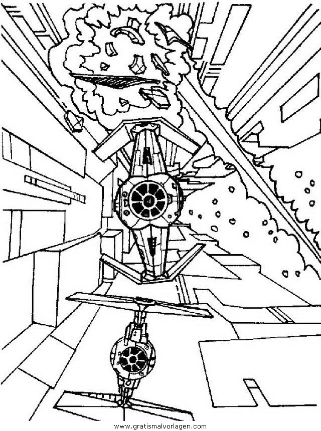 Flieger gratis Malvorlage in Science Fiction, Star Wars ...