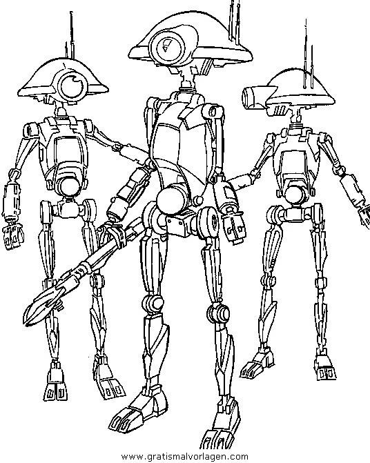 droiden 2 gratis malvorlage in science fiction star wars