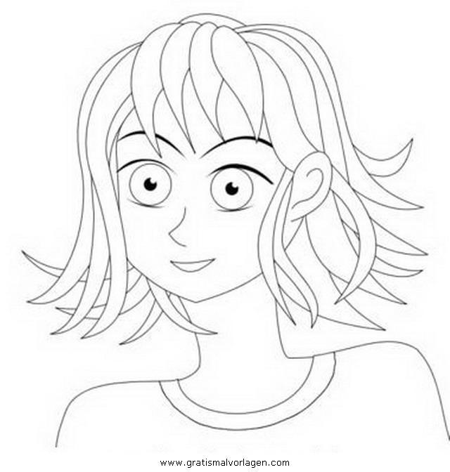 Galupy 1 Gratis Malvorlage In Comic Trickfilmfiguren: Haare 1 Gratis Malvorlage In Mädchen, Menschen