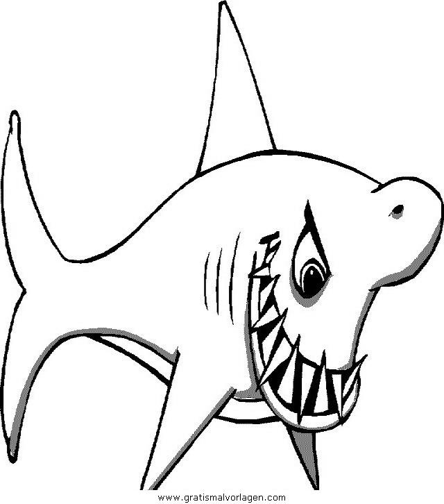 Haie 01 gratis malvorlage in haie tiere ausmalen for Disegno squalo
