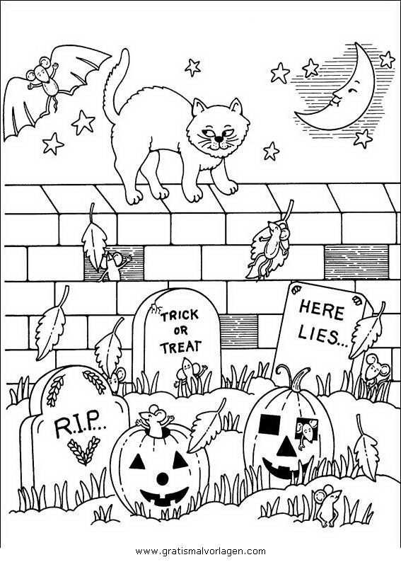 halloween 040 gratis malvorlage in halloween verschiedene