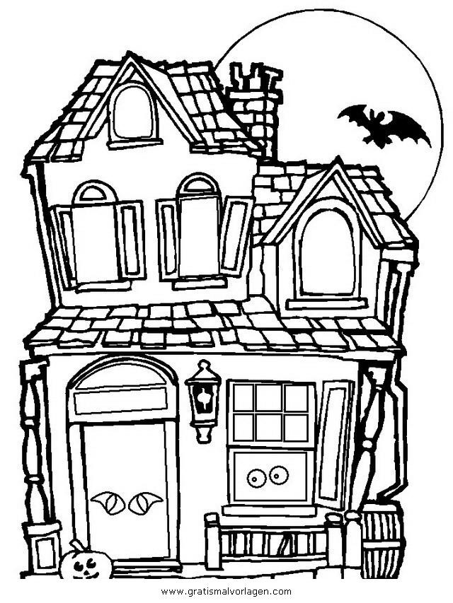 halloween 077 gratis Malvorlage in Halloween, Verschiedene Halloween ...