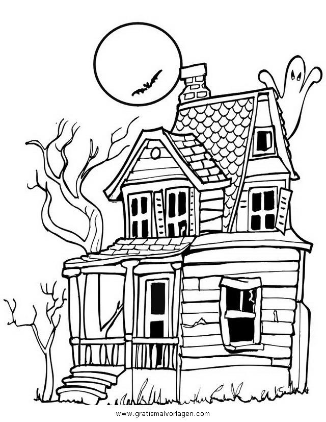 halloween 086 gratis Malvorlage in Halloween, Verschiedene Halloween ...