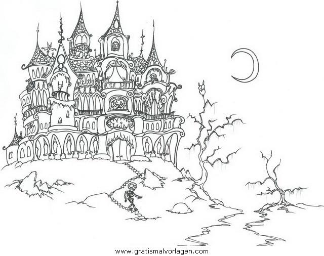 halloween 089 gratis Malvorlage in Halloween, Verschiedene Halloween ...