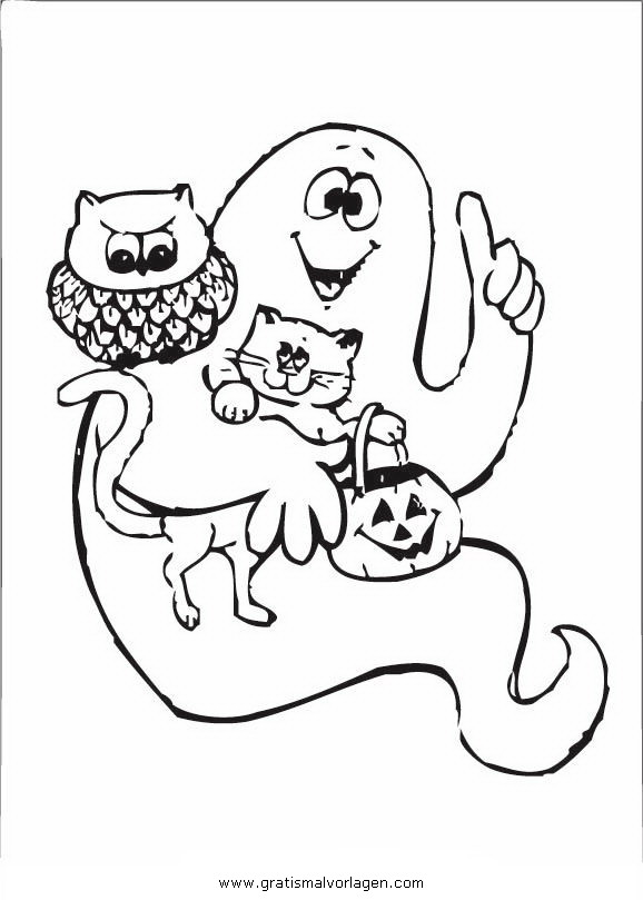 halloween gespenst 43 gratis malvorlage in gespenst