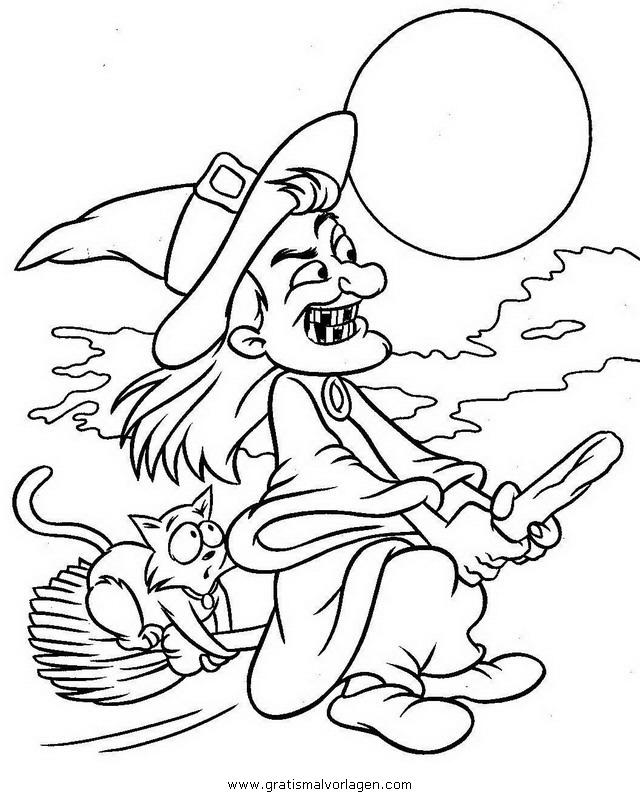 halloween hexen 24 gratis Malvorlage in Halloween, Hexe Befana ...