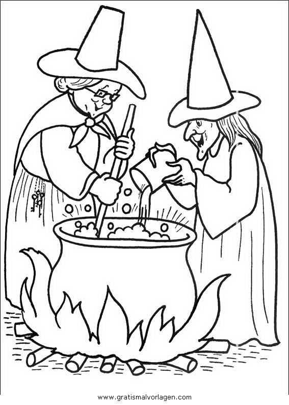 halloween hexen 25 gratis malvorlage in halloween hexe