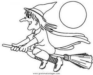 Malvorlage Hexe Befana halloween hexen 27