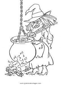 Malvorlage Hexe Befana halloween hexen 28