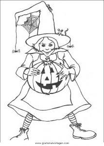 Malvorlage Hexe Befana halloween hexen 32